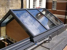 Electrically Operated Retracting Gable Fronted Apex Roof Light: Featured Installation: OMC