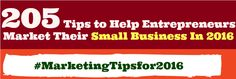 If you're an entrepreneur or a small business owner and you're looking for proven resources that can help you market your small business in 2016, then you're on the right place.
