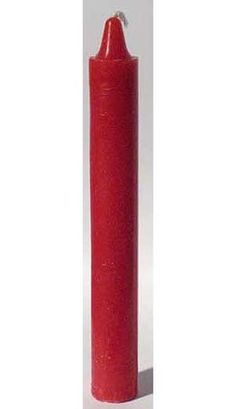 "Red 6"" Taper Candle. Often linked to psychic ability and the qualities of the mind, red taper candles are of wonderful use within your candle magic and similar ritual practice. 6"" x 5/8"""
