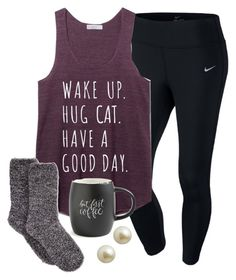 """pearls 'n sass"" by elizabethannee ❤ liked on Polyvore featuring NIKE, Charter Club, Printable Wisdom and Carolee"