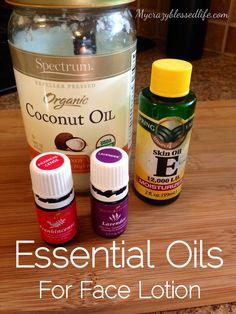 1 cup coconut oil 1/2 teaspoon Vitamin E oil 6 drops Young Living Lavender 6 drops Young Living Frankincense