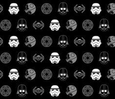 The Dark Side fabric by studiofibonacci on Spoonflower - custom fabric