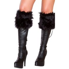 Sexy Fierce Furry Fantasy Santa Boot Covers ($32) ❤ liked on Polyvore featuring costumes, santa claus costume, santa suit, sexy halloween costumes, white halloween costumes and sexy costumes
