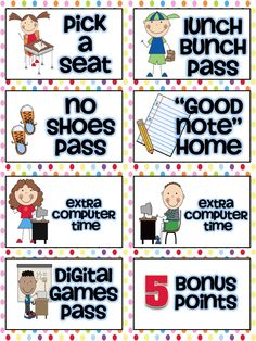 Classroom Rewards that don't cost money Classroom Reward Coupons, Classroom Incentives, Behavior Incentives, Classroom Behavior, Kindergarten Classroom, Future Classroom, School Classroom, Behavior Coupons, Classroom Ideas