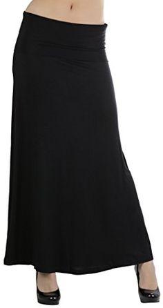 ToBeInStyle Women/'s Solid Print Back Slit Pencil Skirt