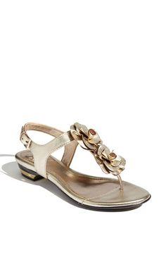 gold flower sandals
