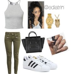 """10.17.15 """"don't nobody do it like you"""" by ediatrin on Polyvore featuring polyvore, fashion, style, NLY Trend, H&M, adidas, Lacoste and Arizona"""