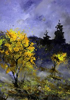 Landscape Painting - Witches Night by Pol Ledent