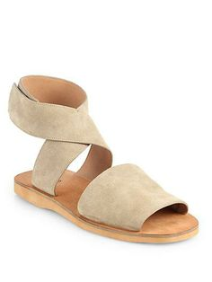 sabine suede crisscrossed sandals by vince.
