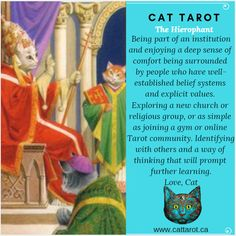 Monthly readings on my YouTube channel: www.youtube.com/c/cattarot Book your reading: www.cattarot.ca Love, Cat #tarot #tarotcards The Hierophant, Join A Gym, Online Tarot, Tarot Cards, Channel, Community, Explore, Reading, Cats