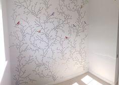 DIY Birds and Butterflies Wallpaper