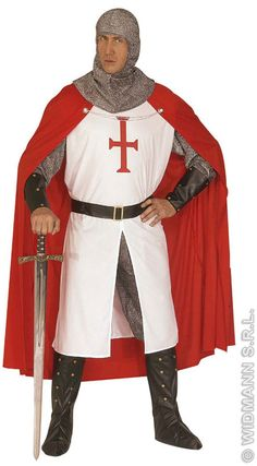 Crusader Knight Costume - - Historical Fancy Dress - by Widmann - Crusader This Great Costume Diy Knight Costume, Soldier Costume, Family Costumes, Movie Costumes, Halloween Costumes, Period Costumes, Halloween 2019, Halloween Party, Historical Costume
