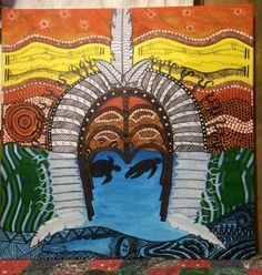 """Indigenous Mix"" by Tsha Yasserie. Paintings for Sale. Bluethumb - Online Art Gallery"