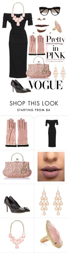 """Pretty in Pink & Black"" by gorgeouslor ❤ liked on Polyvore featuring Gucci, Dolce&Gabbana, LASplash, Accessorize, Kendra Scott and Thierry Lasry"