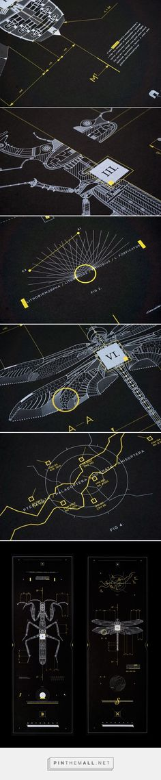 Skewed Perspective / Maps / Limited Color Palette /// Mechanical Insects by Marton Borzak