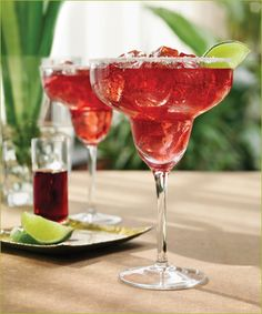 Raspberry Margarita on the Rocks