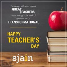 Technology will never replace great teachers, but technology in the hands of great teachers is transformational.  Happy Teacher's Day !!