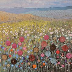 Art Mixed Media Canvas - Button Meadow button art on canvas - by Jo Grundy. This is so amazing an inspiring I can't even stand it!button art on canvas - by Jo Grundy. This is so amazing an inspiring I can't even stand it! Mixed Media Canvas, Mixed Media Art, Button Art On Canvas, Buttons On Canvas, Button Picture, Art Textile, Landscape Quilts, Landscape Art, Button Crafts