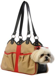 Petote Metro 2 Pet Carrier Bag, Petite, Khaki/Black/Red *** Find out more about the great product at the image link. (This is an affiliate link and I receive a commission for the sales)
