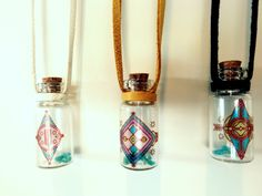 Leather Penabranca Bottle of Light Necklace in color of your choice. $18.00, via Etsy.