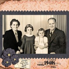 My Family in the 1940s ~ Simply designed heritage digi page with all the focus on the photo.