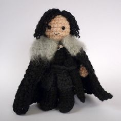 Jon Snow  crocheted Game of Thrones doll by LunasCrafts on Etsy, $20.00
