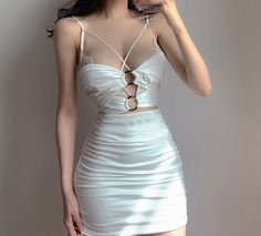 Girls Night Out Outfits, Summer Dress Outfits, Girls Fashion Clothes, Fashion Outfits, Elegant Dresses, Sexy Dresses, Short Dresses, Aesthetic Shirts, Aesthetic Clothes