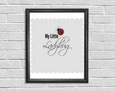 Printable Art My Little Ladybug Typography by KSAStyledPrints