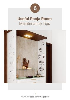 Keep your pooja room sparkling clean with these pooja room maintenance ideas! Unique House Design, Dream Home Design, Door Design Photos, Almirah Designs, Temple Design For Home, Pooja Room Door Design, Crate Furniture, Home Decor Colors, Home Decor Hacks