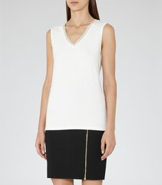 Faye EMBELLISHED TANK TOP | REISS saved by #ShoppingIS