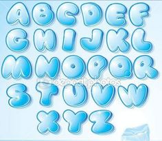 Funny Cartoon shine icy font - letter from A to Z, vector clip art for your christmas design or text Poster. Graffiti Alphabet, Graffiti Lettering, Creative Lettering, Lettering Styles, Hand Lettering, Alfabeto Graffiti, Glitter Background, Ornaments Design, Christmas Design