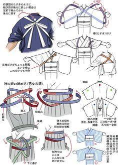bull-heck: 「着物かんたん解説8 袴の紐、たすきがけ」/「摩耶薫子」のイラスト [pixiv]