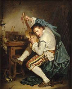 Jean-Baptiste Greuze, Un oiseleur qui, de retour de la chasse, accorde sa guitare ou le guitariste