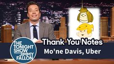 thank you notes jimmy fallon Jimmy Fallon Youtube, Dennis The Menace, Tonight Show, Thank You Notes, Mug Shots, To My Future Husband, Uber, Tv, Television Set