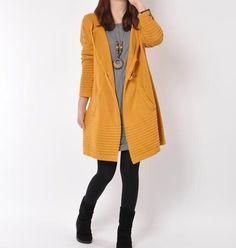 Yellow+Sweater+dress/cotton+sweater/Long+by+originalstyleshop,+$65.00