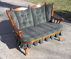 tell city love seat settee Maple Furniture, Western Furniture, City Furniture, Outdoor Furniture, Furniture Ideas, Antique Chairs, Antique Furniture, Painted Furniture, Early American Decorating