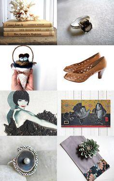--Pinned with TreasuryPin.com Gift Ideas, Friends, Fall, Handmade, Etsy, Vintage, Amigos, Autumn, Hand Made