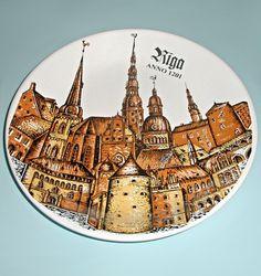 "Сувенирная тарелка ""Рига. Старый город"""