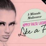 1-Minute Makeover: Apply False Lashes Like a Pro • Makeup.com