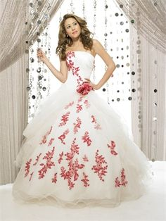 Ball Gown Strapless Straight Neckline with Appliques Floor Length Organza Satin Quinceanera Dress QD1118 www.dresseshouse.co.uk $149.0000 ----2012 Quinceanera Dresses, Quinceanera Ball Gowns,2013 Quinceanera Dresses, Quinceanera Ball Gowns 2013,Quinceanera Dresses 2013,Quinceanera Dresses UK