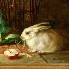 Famous+Rabbit+Paintings | ... rabbit seated in snow 3 bunny thick paints search similar art