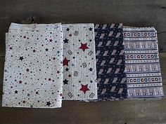 Primitive Americana Patriotic Cotton Fabric..perfect for your July 4th crafting projects!  Auction ends today!