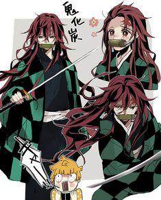 doodle, Demon Slayer: Kimetsu no Yaiba, Tanjirou Kamado / - pixiv Demon Manga, Manga Anime, Manga Dragon, Otaku Anime, Anime Chibi, Kawaii Anime, Fan Art Anime, Anime Love, Anime Shop