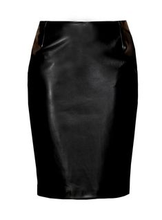 leather pencil skirt and tee | Milk Made' Tee , BROSE (ss13)