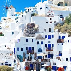 Santorini you've got us #thosebluedoors
