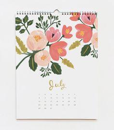 love this calendar, gorgeous flower illustrations
