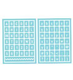 Martha Stewart Crafts™ Condensed Alphabet Adhesive Stencils