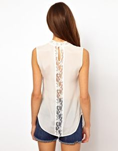 06057c239dc1b Image 2 of Very By Vero Moda Lace Insert Top Lace Insert