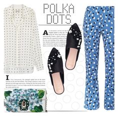 """Polka Dots"" by katerin4e-d ❤ liked on Polyvore featuring Diane Von Furstenberg, Altuzarra, KG Kurt Geiger and Dolce&Gabbana"