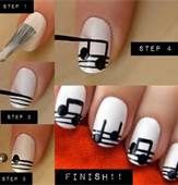 Show off your love for music - DIY Nail Art step by step - Bing Images